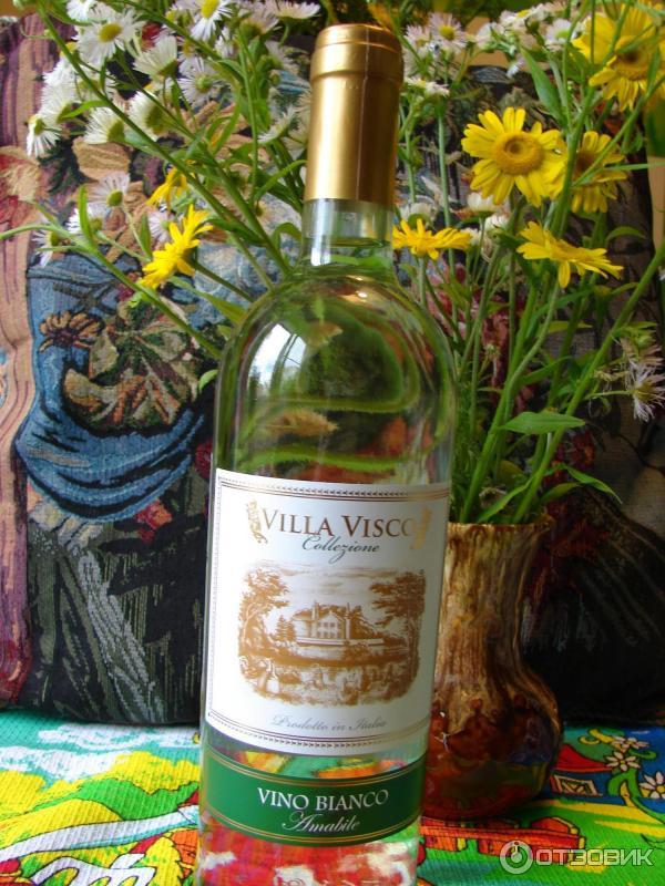 Вино бьянко белое полусладкое