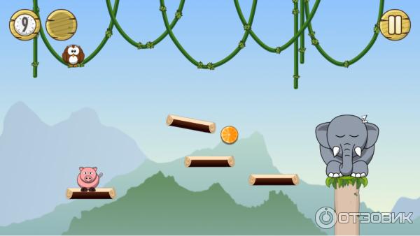 Кликай мышкой по друзям слона так, чтобы он смог проснуться и помочь в поисках сокровищ.