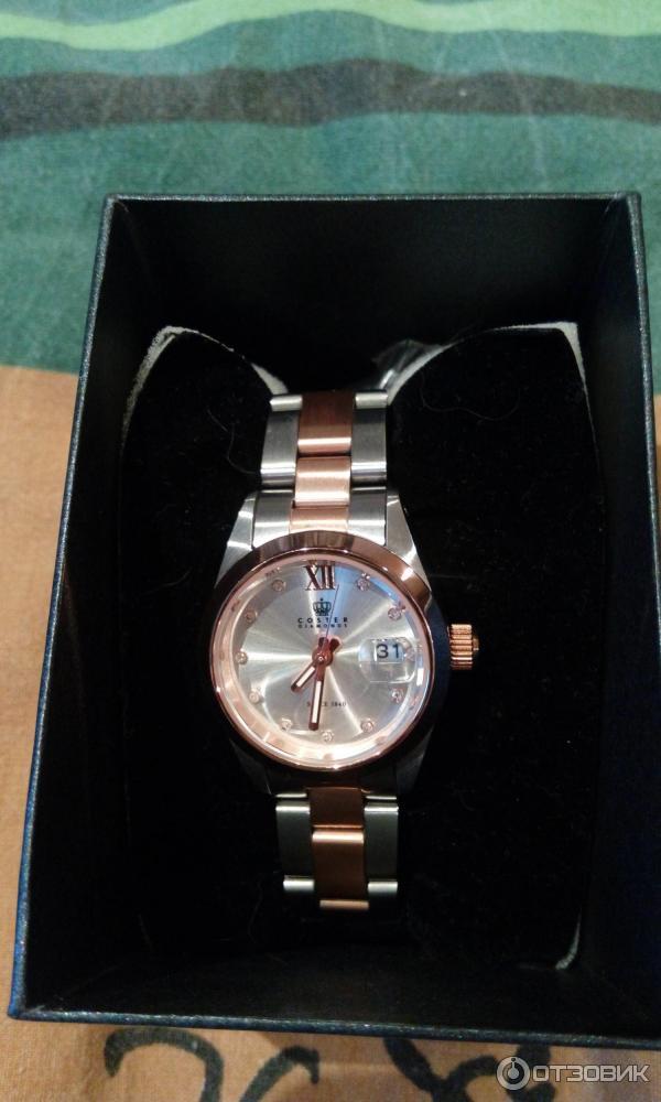 Бывают coster diamonds часы и цены, с минутными и секундными стрелками.