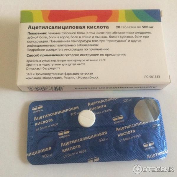 Ацетилсалициловая кислота от зубной боли поможет