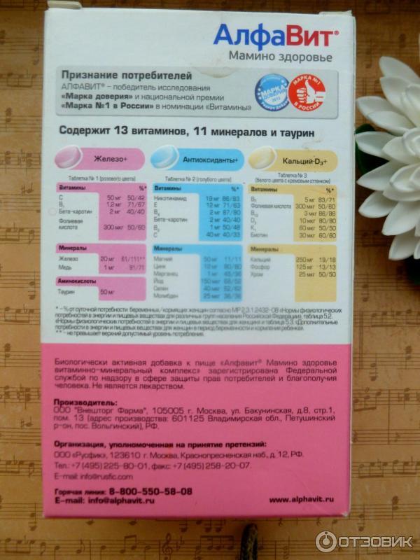 Алфавит мама витамины для беременных 74