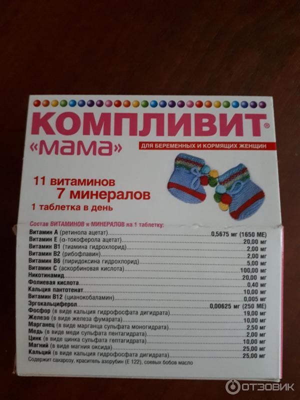 Компливит для беременных состав витаминов 81