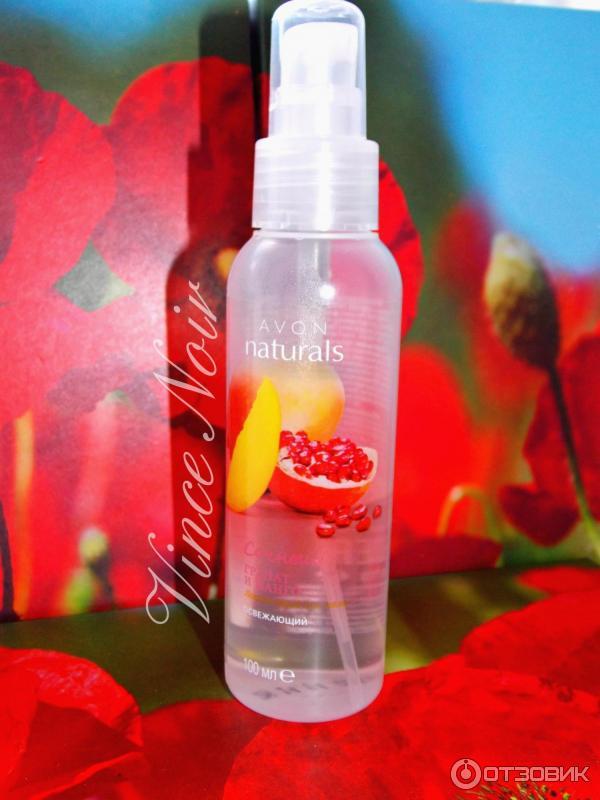 Освежающий спрей для тела гранат и манго купить красивую упаковку для косметики