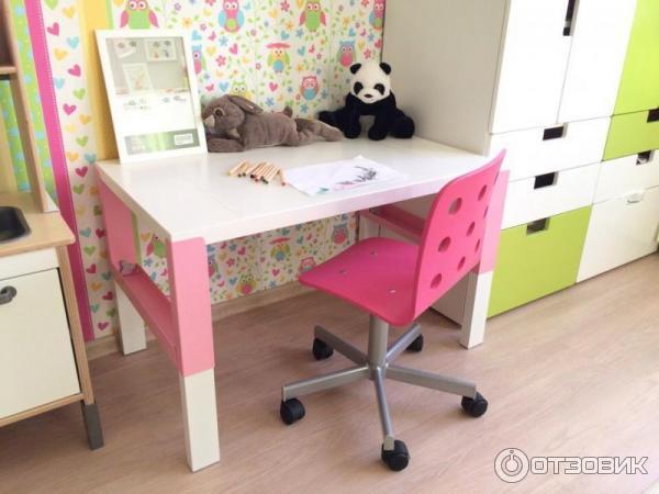 отзыв о письменный стол Ikea поль удобный и просторный растущий