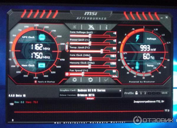 Отзыв о Видеокарта HIS Radeon RX 570 IceQ X2 Turbo 4GB | Хороша