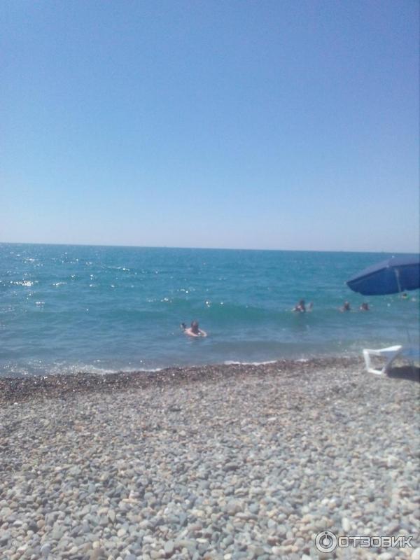 Пляж санатория известия адлер фото