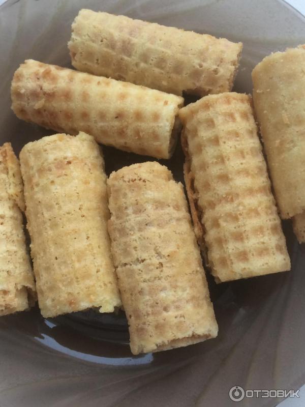 Вафельные рулетики рецепт с фото