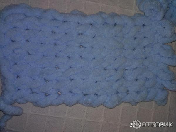 отзыв о пряжа Alize Puffy вязание без спиц доступно даже детям
